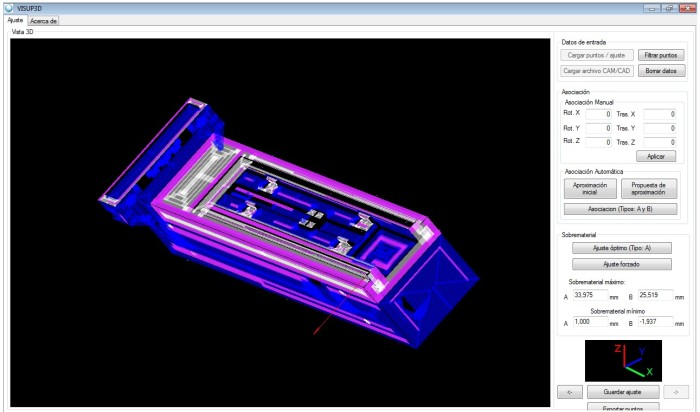 4 Software for best alignment of the workpiece